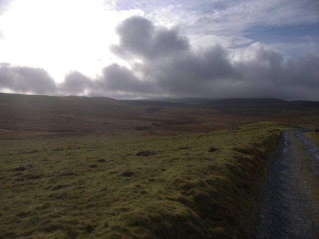 Track to Glaslyn
