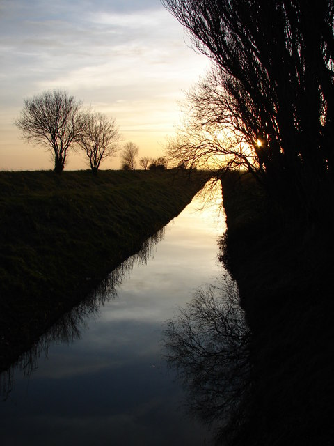 Evening on New Marsh Drain