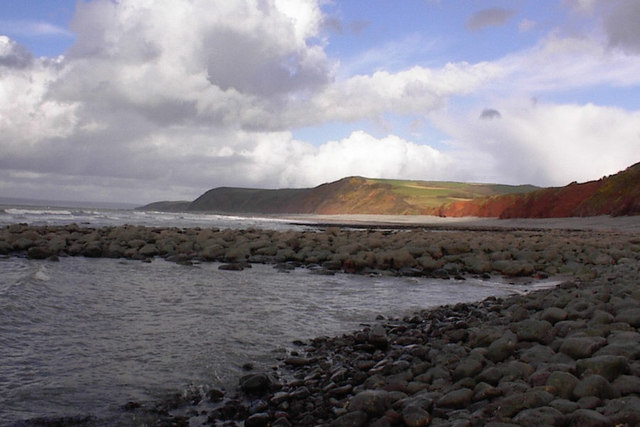 Peppercombe beach looking east to Portledge