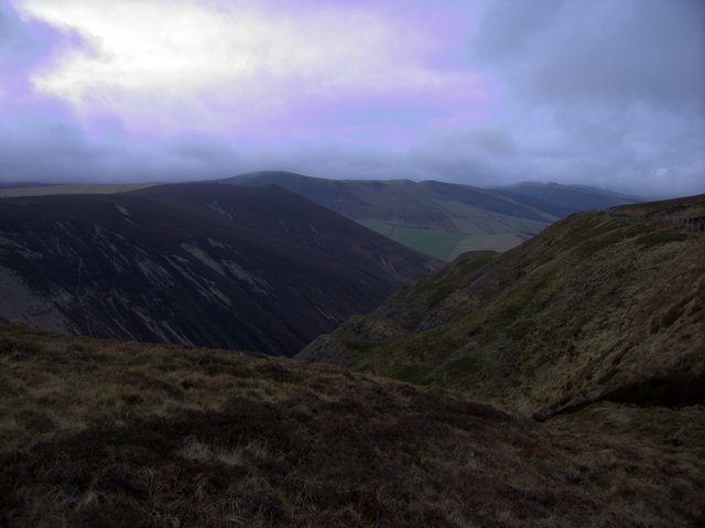 Looking across the upper Cwm Dulas