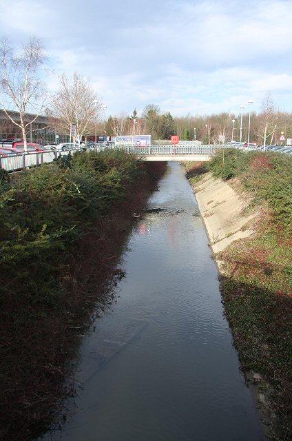 River Lark at Tesco Bury St Edmunds