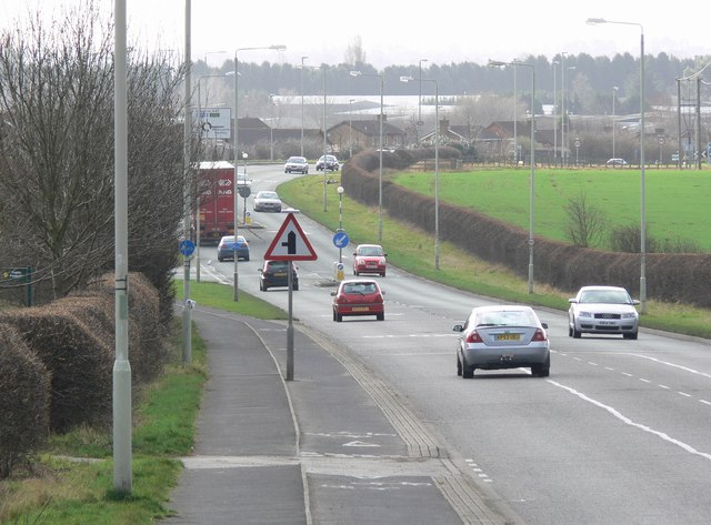 South along the A47 Normandy Way, Hinckley