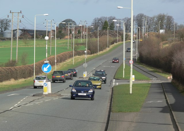 North along the A47 Normandy Way, Hinckley