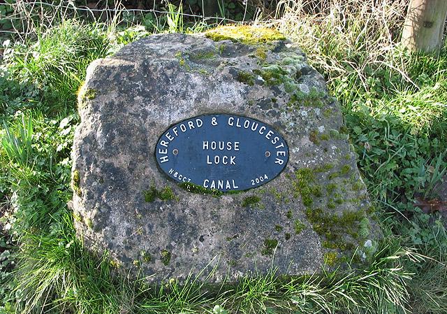 Plaque commemorating the restoration of House Lock