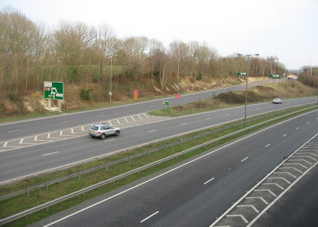Exit ramp for the A33 - Reading Road