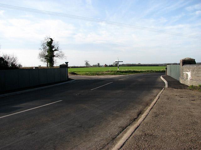 The B1135 across railway bridge