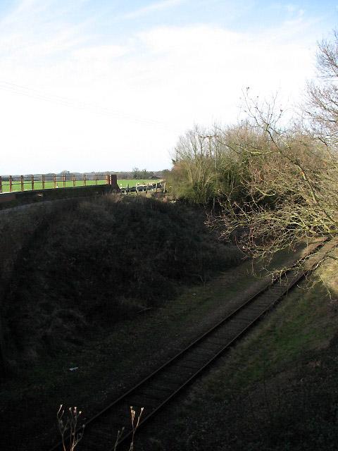 View across railway tracks