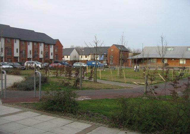 Open ground in front of Oakridge Community Hall