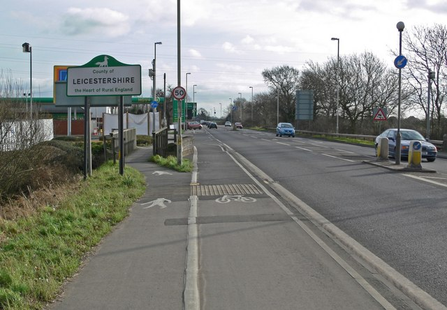 A5 Watling Street near Hinckley