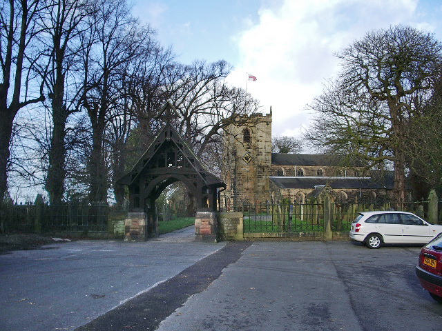 St Mary's Parish Church, Penwortham and Lych Gate