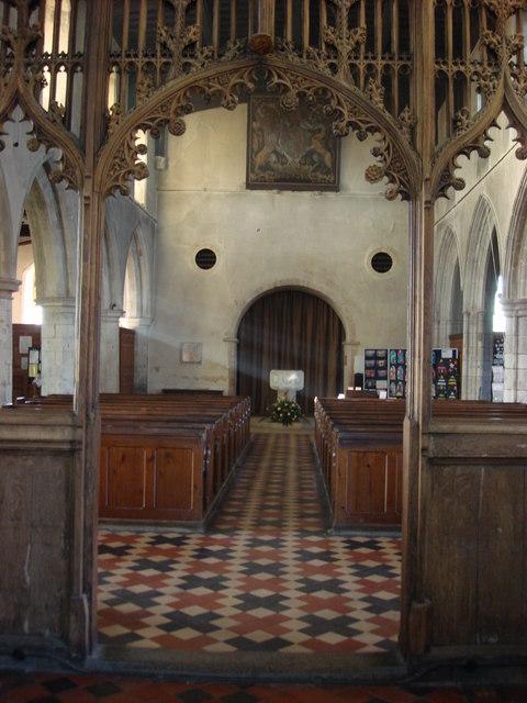 Interior, The Parish Church of St. John the Baptist