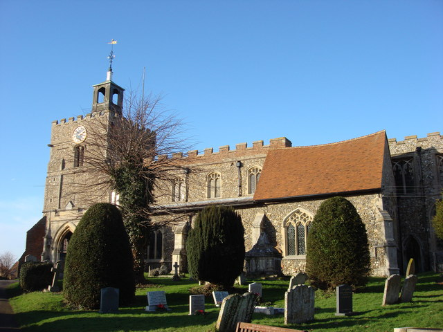The Parish Church of St. John the Baptist, south frontage
