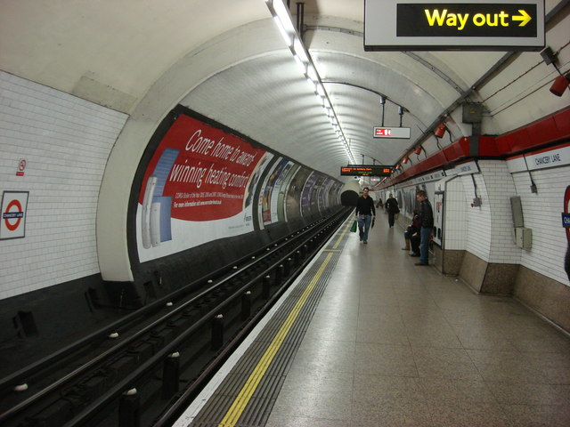 Chancery Lane tube station, Eastbound platform