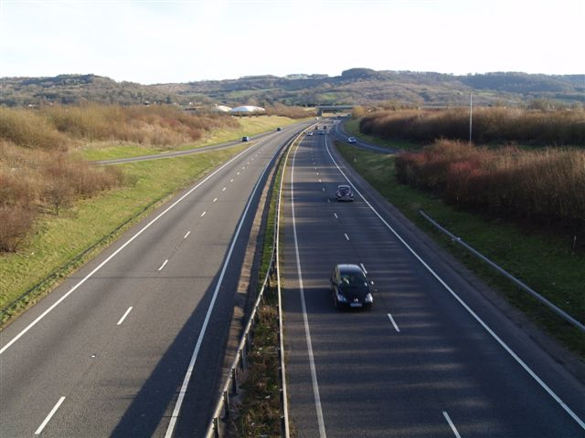 Dual Carriageway heading towards Birdlip