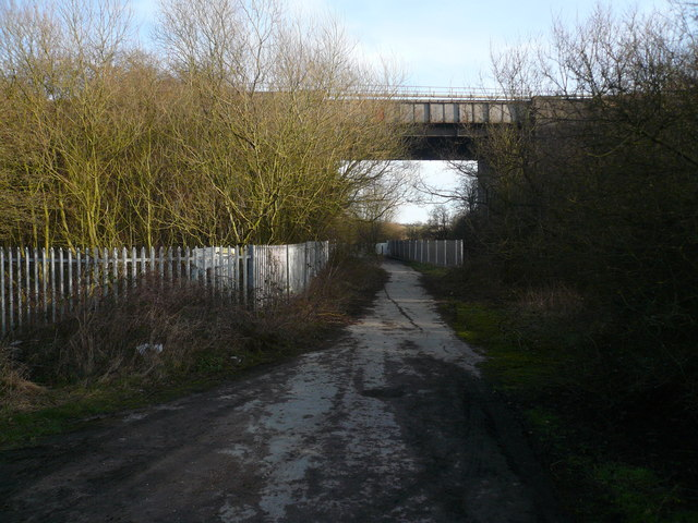 Westhouses - Approaching Railway Bridge from Park Mill Drive