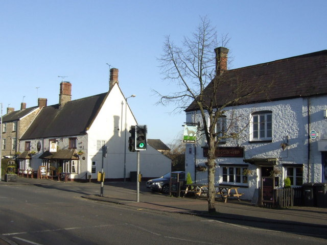The Bell and opposite, The Greyhound, Brackley