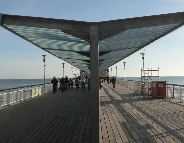 Bournemouth: pier shelters