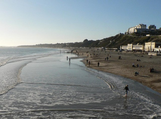 Bournemouth: paddling in January