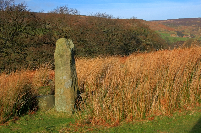 Stone Post on the Footpath up Esklets