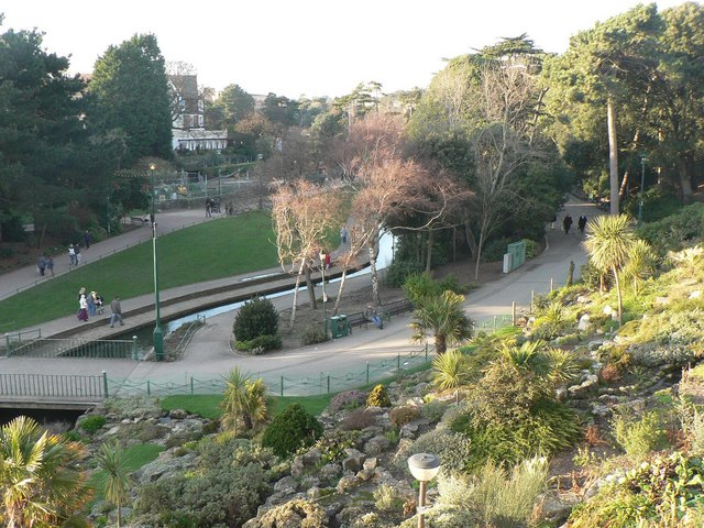 Bournemouth Gardens: upstream from the Pavilion