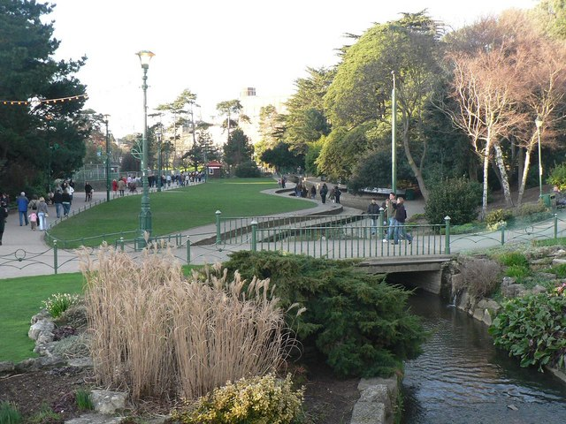 Bournemouth Gardens: the stream meanders