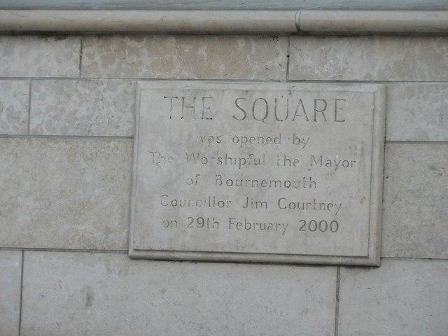 Bournemouth: The Square plaque