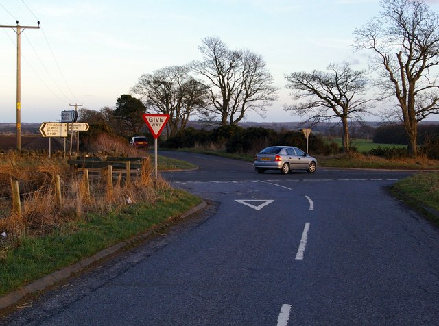Crossroads at Arbroath / Friockheim/ Leysmill junction