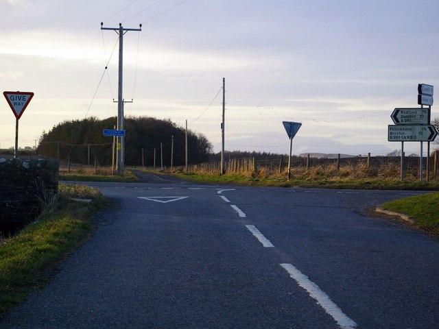 Crossroads at Legaston / Redford and Leysmill junction