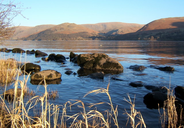 Late afternoon view across Ullswater