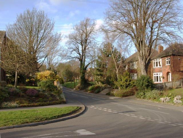 Junction of Flood St and Bare Lane, Ockbrook