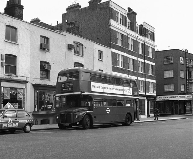 Routemaster in Kensington Church Street