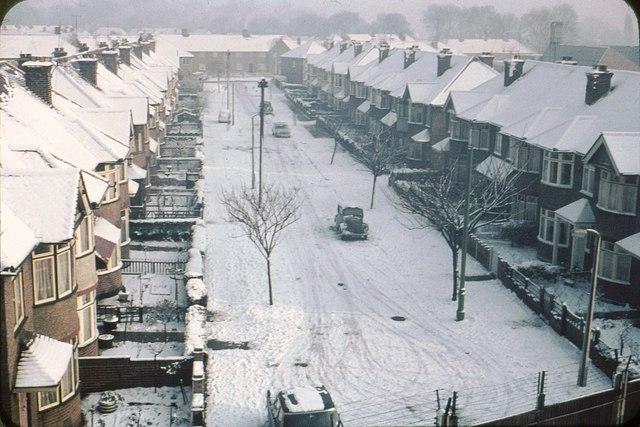 Snowy Scene in 1961.