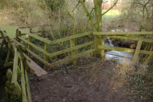 Footbridge over the Ock Brook