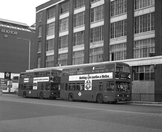 Buses in Old Street, East London