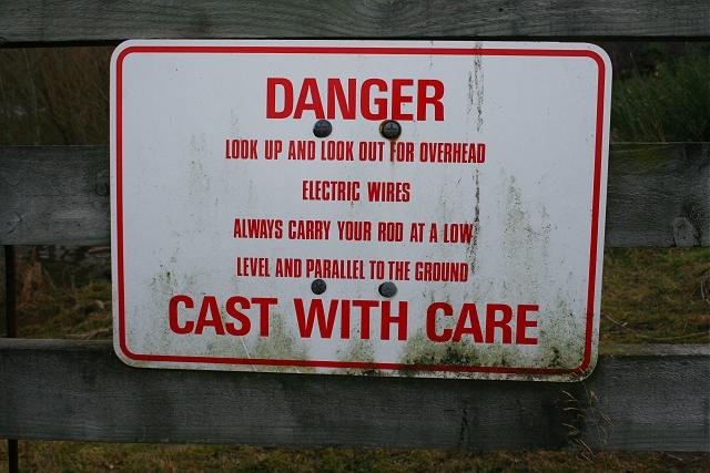 Warning to Anglers