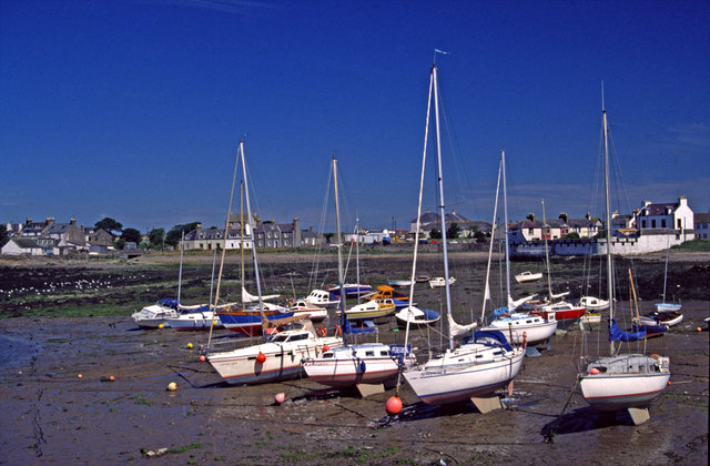 Isle of Whithorn at low tide
