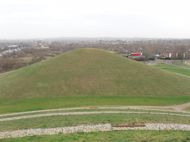 Northala Fields mound viewed from another mound