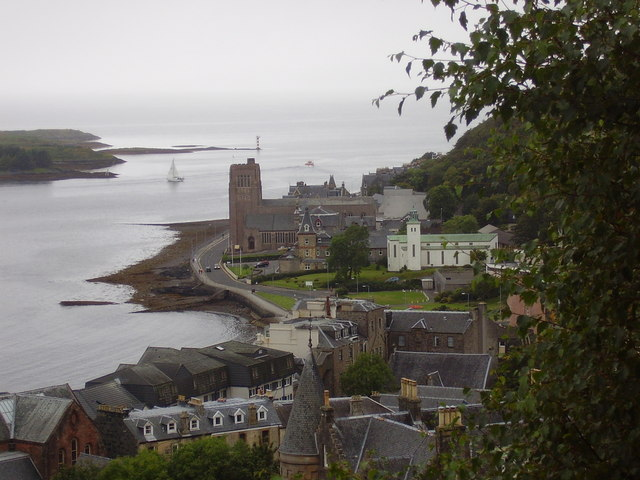Oban - Looking out to sea over the cathedral