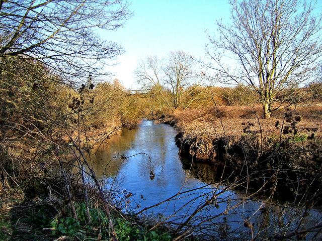 River Stour near pipe bridge