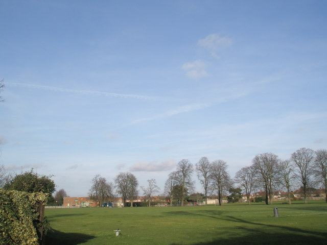 Recreation ground behind The Fox and Castle