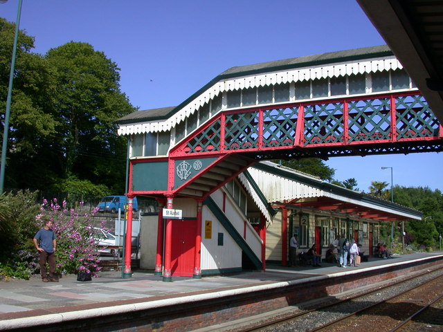 St Austell station bridge