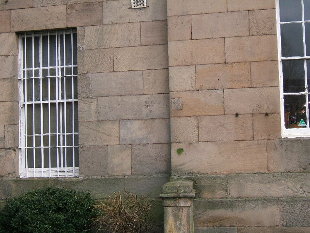 Two Bench Marks on the Military Museum, Chester