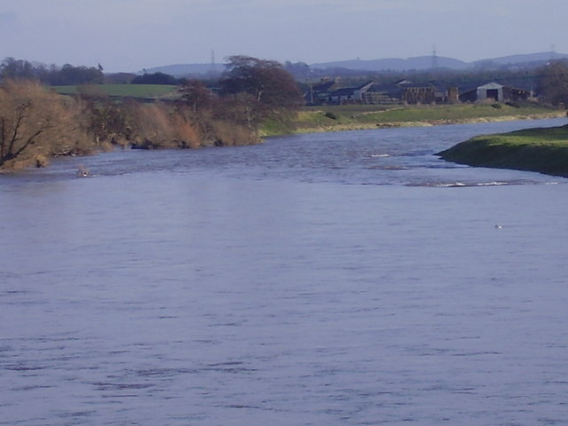 River Tweed near Birgham in the Scottish Borders