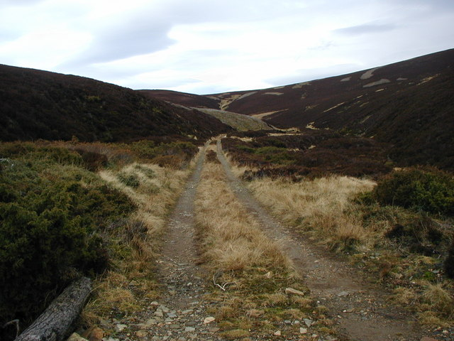 Track at the top of Glen Ernan
