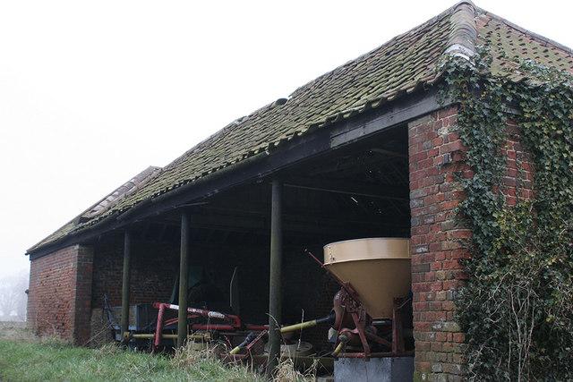 Farm buildings housing machinery