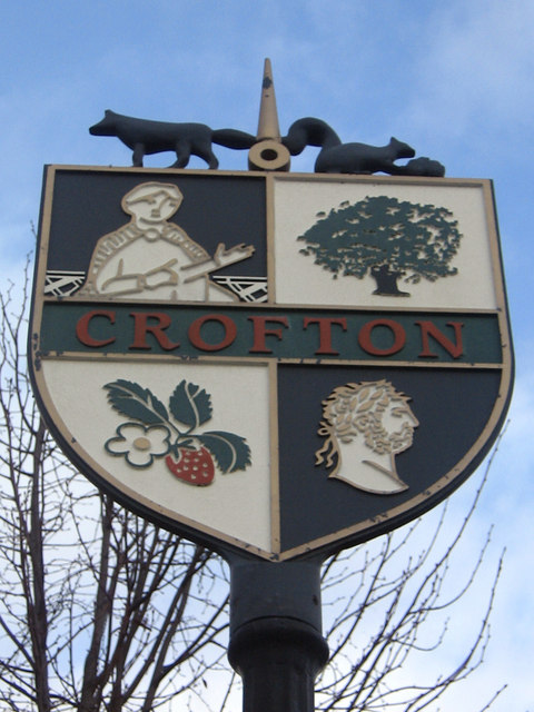 Sign at Crofton - closeup