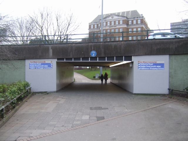 Exit from the Five Ways Concourse