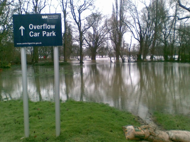 Ouse flooding in the car park