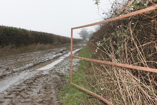 Farm gate on track