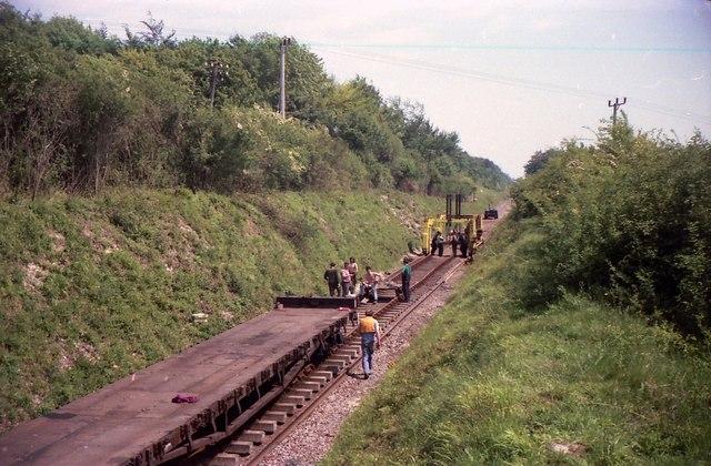 Railhead just East of Ropley
